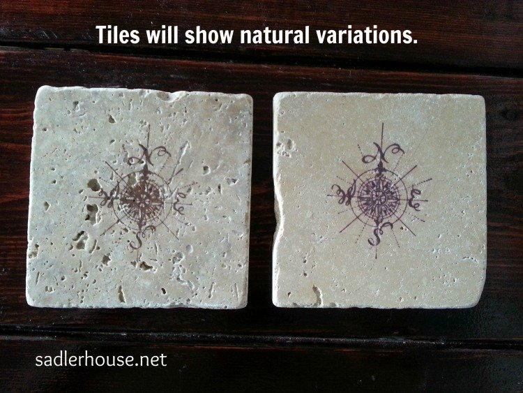 two stamped coasters