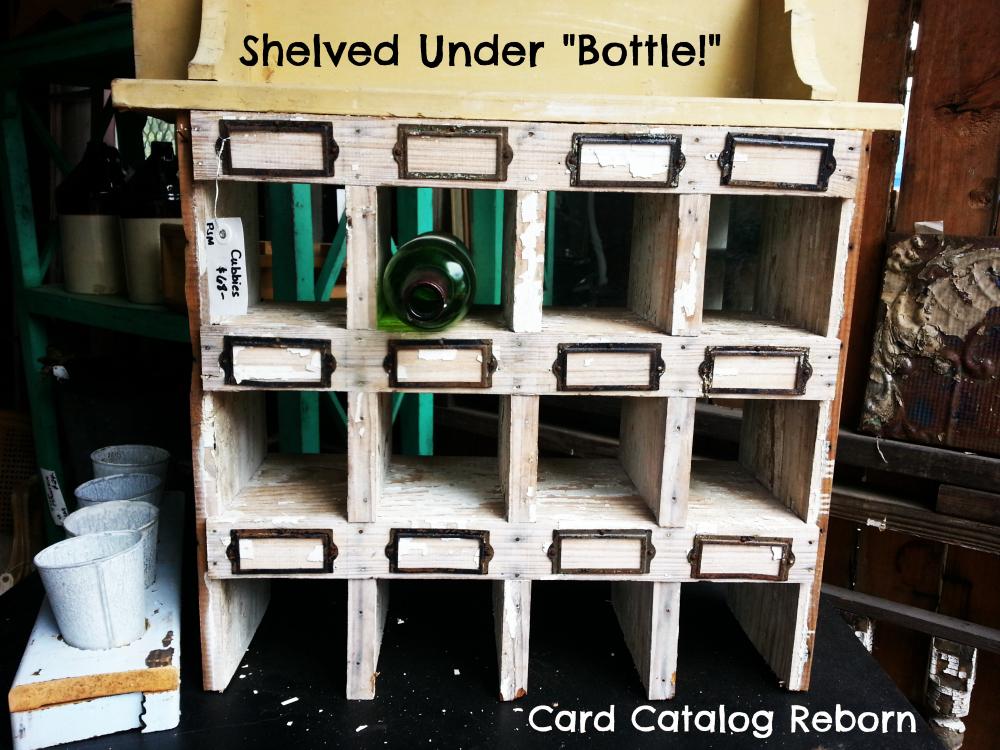 Card Catalog Wine Rack