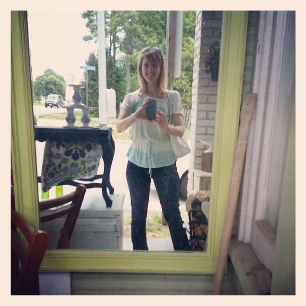 mirror at Lucketts store