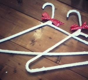 DIY cloth hangers - Sadler House